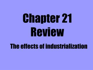 Chapter 21 Review