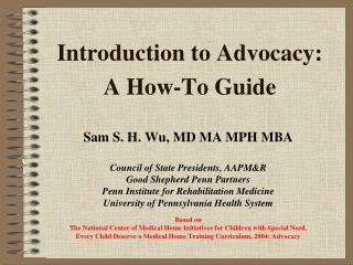 Introduction to Advocacy:    A How-To Guide