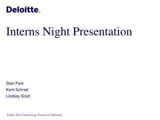 Interns Night Presentation