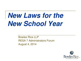 New Laws for the New School Year