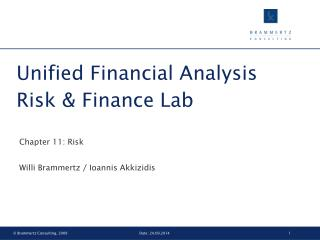 Unified Financial Analysis Risk & Finance Lab
