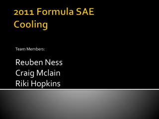 2011 Formula SAE Cooling