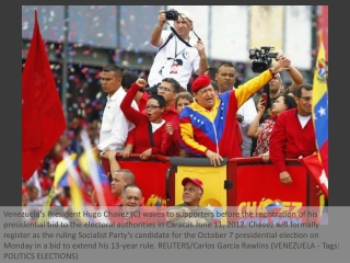 Chavez launches re-election bid with big rally