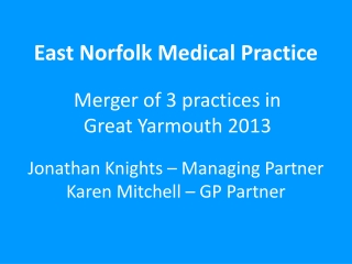 GP Contracts in Suffolk