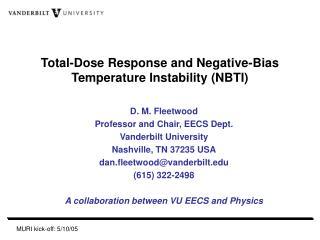 Total-Dose Response and Negative-Bias Temperature Instability (NBTI)