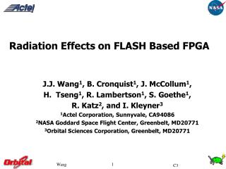 Radiation Effects on FLASH Based FPGA