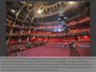 Oscars venue reopens as Dolby Theatre