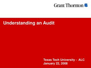 Understanding an Audit