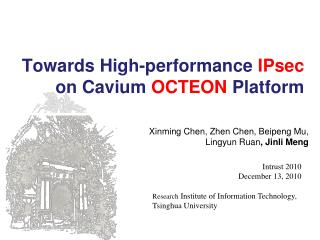 Towards High-performance  IPsec on Cavium  OCTEON  Platform