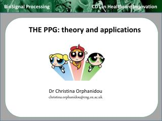 THE PPG: theory and applications