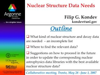 Nuclear Structure Data Needs