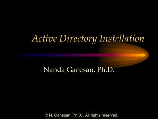 Active Directory Installation