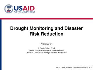 Drought Monitoring and Disaster Risk Reduction