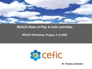 REACH  State of Play & Cefic activities REACH  Workshop ,  Prague ,  5 .10.2006