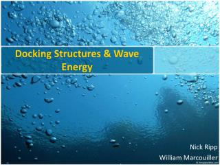 Docking Structures & Wave Energy