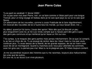 Jean Pierre Colas