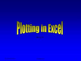 Plotting in Excel