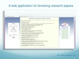 A web application for browsing research papers