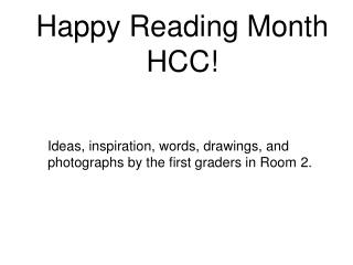 Happy Reading Month HCC!