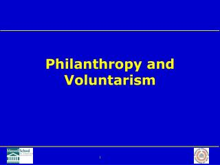 Philanthropy and Voluntarism