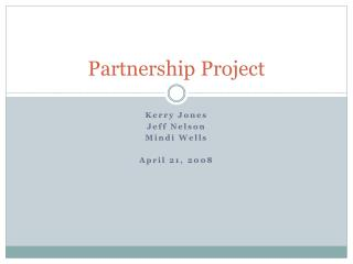 Partnership Project