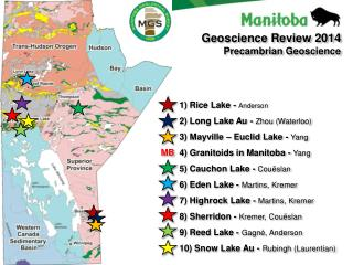1) Rice Lake -  Anderson 2) Long Lake Au -  Zhou (Waterloo) 3) Mayville – Euclid Lake -  Yang