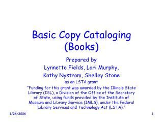 Basic Copy Cataloging (Books)