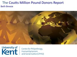 The  Coutts Million Pound Donors Report Beth Breeze