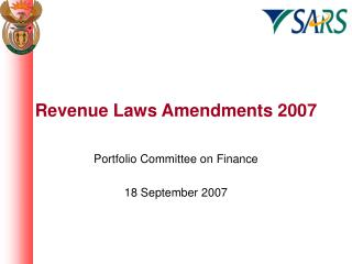 Revenue Laws Amendments 2007
