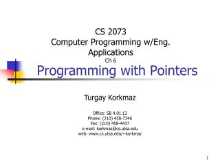 Programming with Pointers