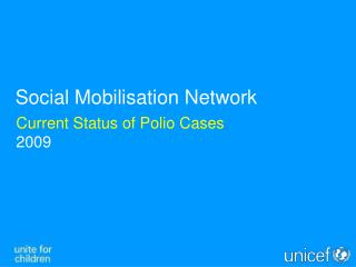 Current Status of Polio Cases 2009