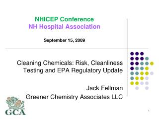 NHICEP Conference NH  Hospital Association September 15,  2009