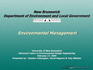 New Brunswick Department of Environment and Local Government