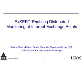 ExSERT: Enabling Distributed Monitoring at Internet Exchange Points
