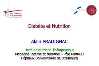 Diabète et Nutrition