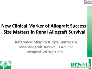 New Clinical Marker of Allograft Success: Size Matters in Renal Allograft Survival