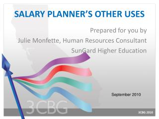 SALARY PLANNER'S OTHER USES