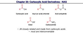 Chapter 20: Carboxylic Acid Derivatives - NAS