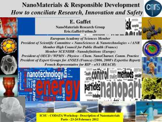 NanoMaterials  &  Responsible Development