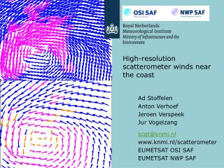 High-resolution scatterometer winds near the coast