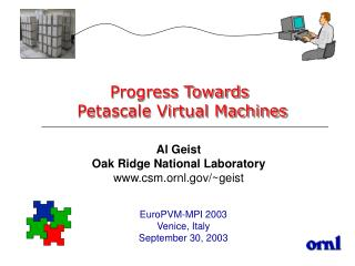 Progress Towards  Petascale Virtual Machines