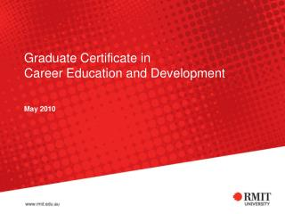 Graduate Certificate in  Career Education and Development