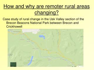 How and why are remoter rural areas changing?