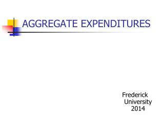 AGGREGATE EXPENDITURES
