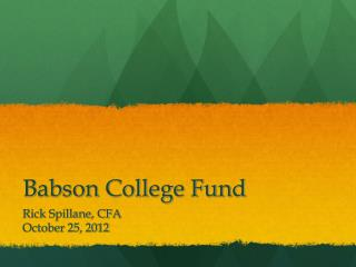 Babson College Fund