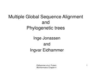 Multiple Global Sequence Alignment and Phylogenetic trees