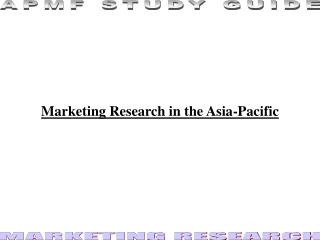 Marketing Research in the Asia-Pacific