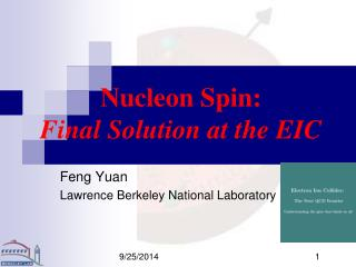 Nucleon Spin:  Final Solution at the EIC
