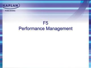 F5 Performance Management