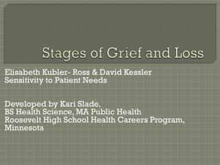 Stages of Grief and Loss
